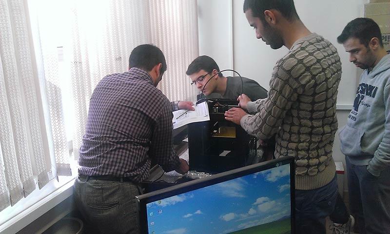 راه اندازی و تحویل پرینتر سه بعدی سی زان در دانشگده های پردیس دانشگاه تهران