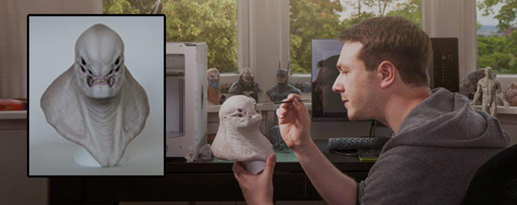 خلق موجودات افسانه ای – هالیودی به کمک پرینتر سه بعدی