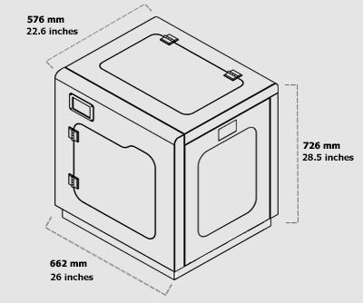 نمای جانبی پرینتر سه بعدی اکسپرت