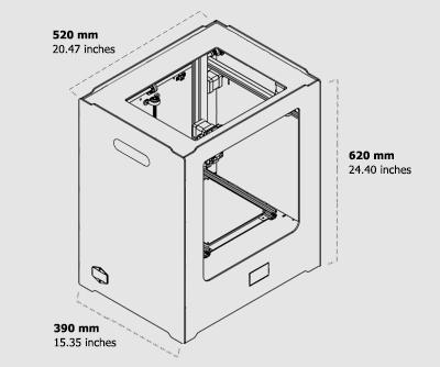 نمای دو بعدی پرینتر سه بعدی اکو